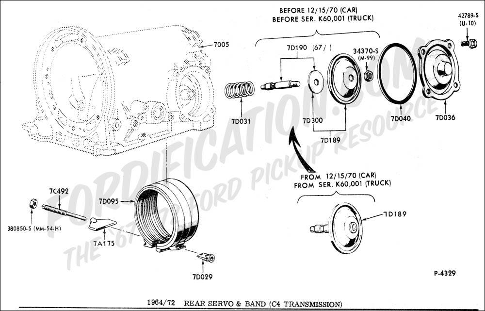 ford o matic parts diagram