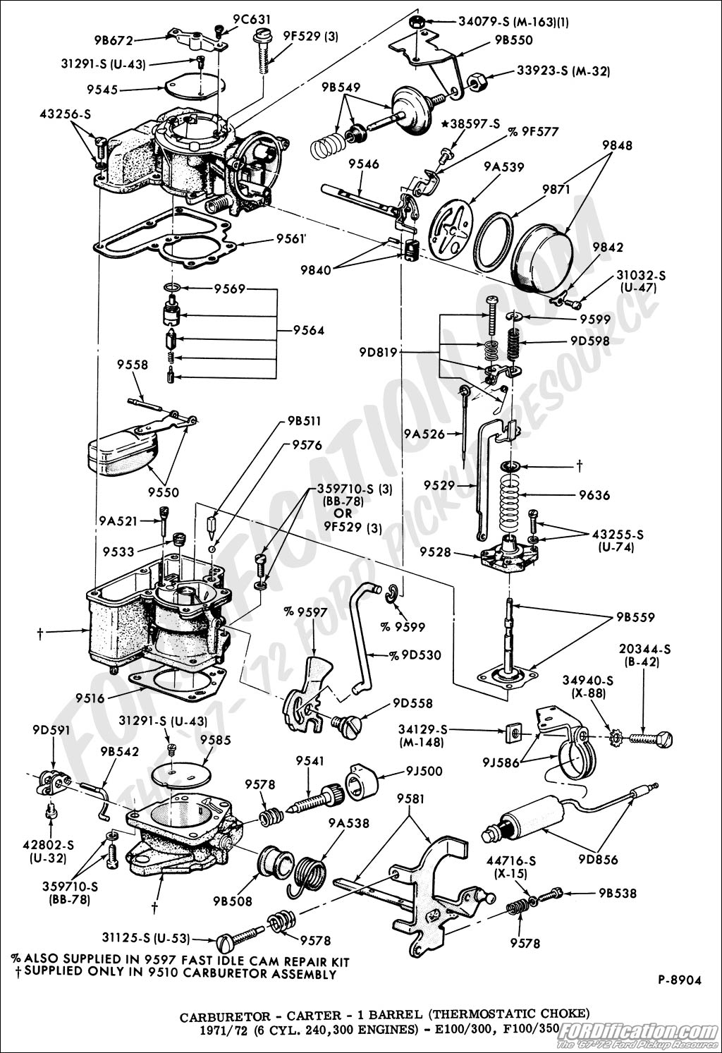 ford 302 4 barrel carburetor