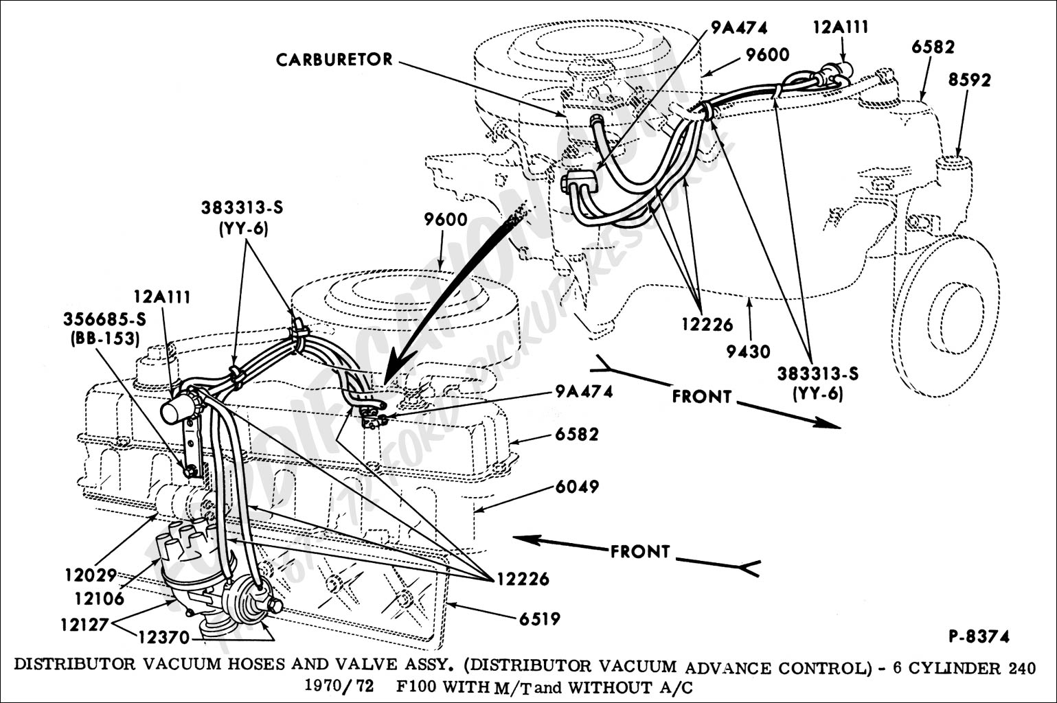 292 engine diagram for 1968 inline 6
