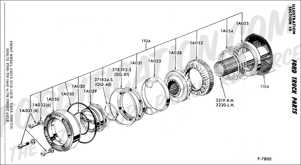 ford f250 front hub diagram